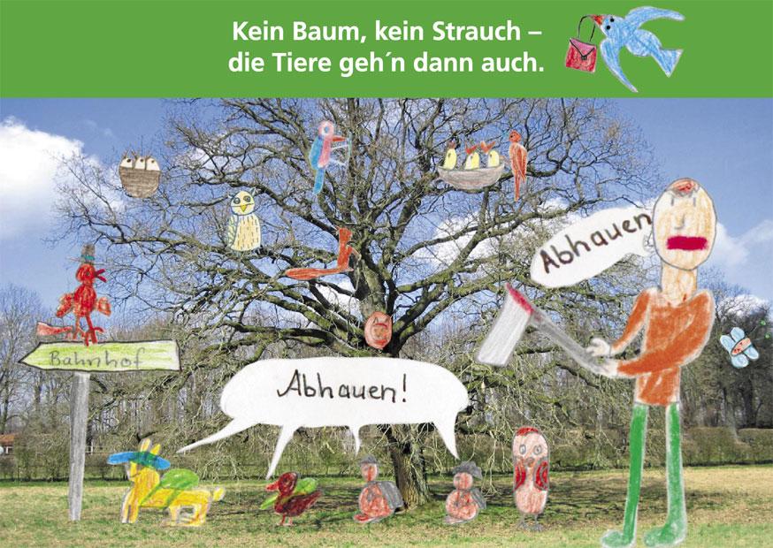 Diese Postkarte ist eine Zusammenarbeit mit der Klasse 3c am Perlstieg (Originalfoto: Harald Vieth)